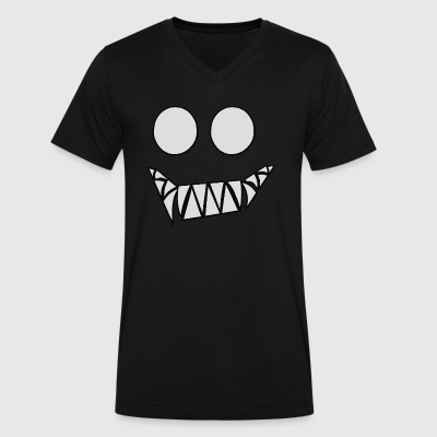 demonic - Men's V-Neck T-Shirt by Canvas
