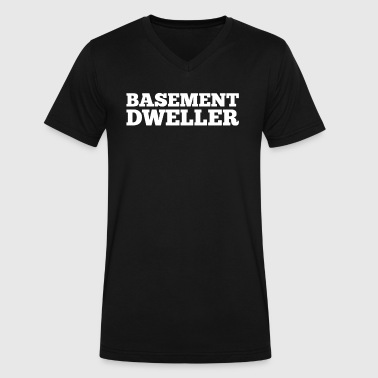 Basement Dweller - Men's V-Neck T-Shirt by Canvas