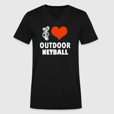 NATBALL DESIGN - Men's V-Neck T-Shirt by Canvas