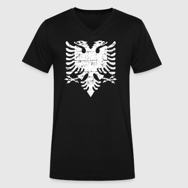 Albanian Eagle Designs - Men's V-Neck T-Shirt by Canvas