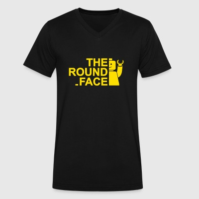 The Round Face - Men's V-Neck T-Shirt by Canvas