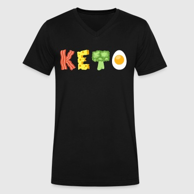 Keto Low Carb Diet - Men's V-Neck T-Shirt by Canvas