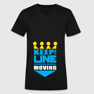KC Royals Keep the Line Moving - Men's V-Neck T-Shirt by Canvas