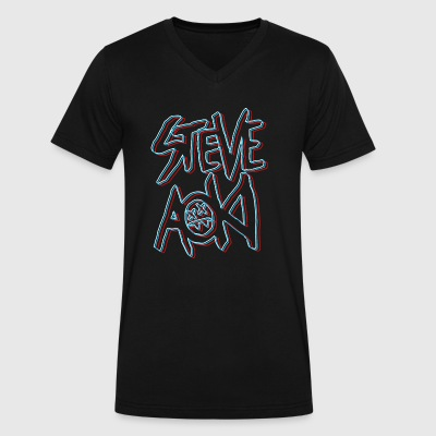 STEVE AOKI - Men's V-Neck T-Shirt by Canvas