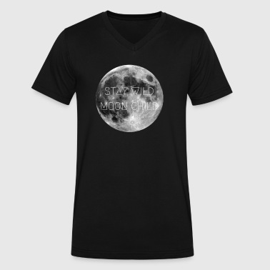 Stay Wild Moon Child - Men's V-Neck T-Shirt by Canvas