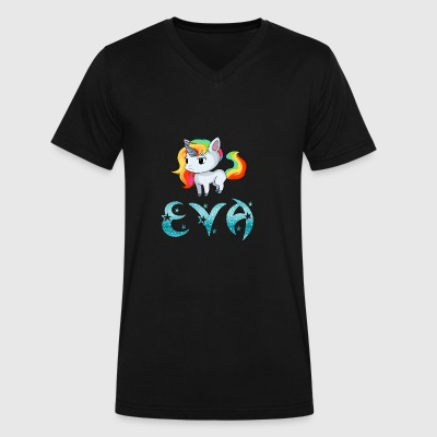 Eva Unicorn - Men's V-Neck T-Shirt by Canvas