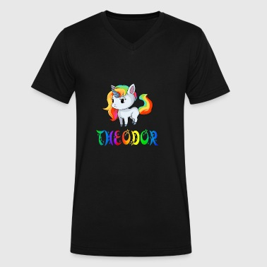 Theodor Unicorn - Men's V-Neck T-Shirt by Canvas