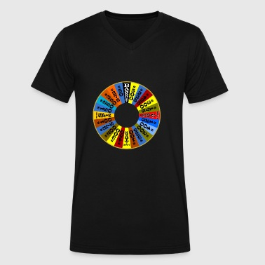 Wheel of Fortune logo Shirt - Men's V-Neck T-Shirt by Canvas