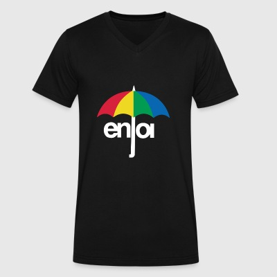 Enjoi Umbrella - Men's V-Neck T-Shirt by Canvas