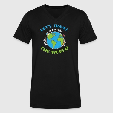 Let´s travel the world - Men's V-Neck T-Shirt by Canvas
