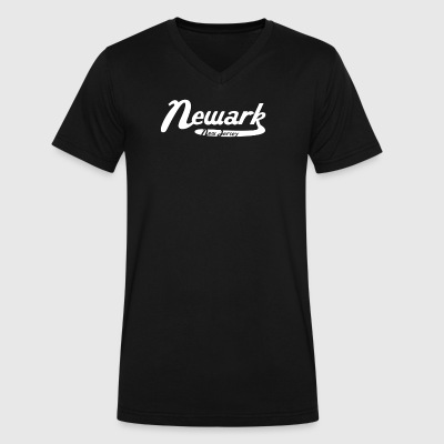 Newark New Jersey Vintage Logo - Men's V-Neck T-Shirt by Canvas