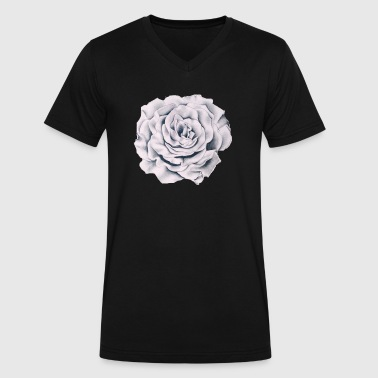paper rose design - Men's V-Neck T-Shirt by Canvas
