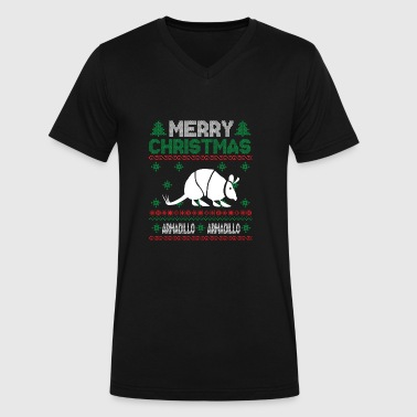 Cute Kids Armadillo Ugly Christmas Tshirt - Men's V-Neck T-Shirt by Canvas