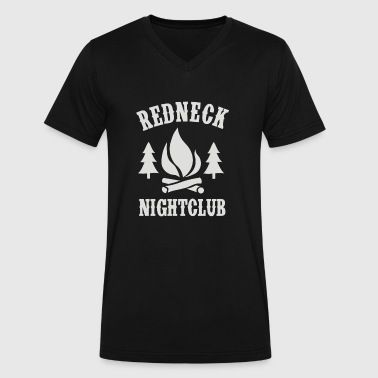 redneck nightclub - Men's V-Neck T-Shirt by Canvas