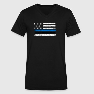 Estonian American Flag - USA Estonia Shirt - Men's V-Neck T-Shirt by Canvas