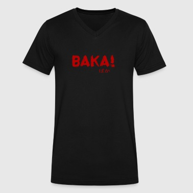 BAKA OTAKU DESIGN - Men's V-Neck T-Shirt by Canvas