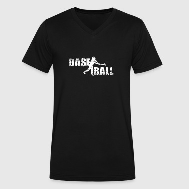 Baseball - Men's V-Neck T-Shirt by Canvas