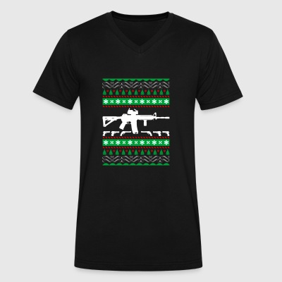 Ar 15 Ar15 Ugly Christmas Sweater Xmas - Men's V-Neck T-Shirt by Canvas
