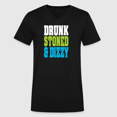 Drunk Stoned And Dizzy - Men's V-Neck T-Shirt by Canvas