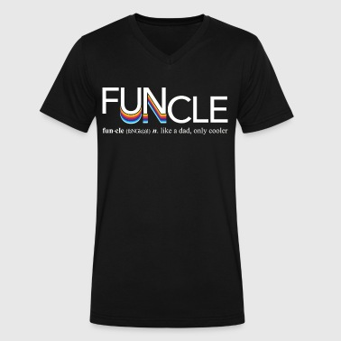 Fun Uncle Funcle Definition - Men's V-Neck T-Shirt by Canvas