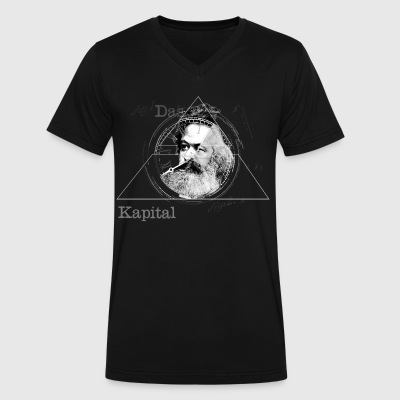 The Time of Marx Dark - Men's V-Neck T-Shirt by Canvas