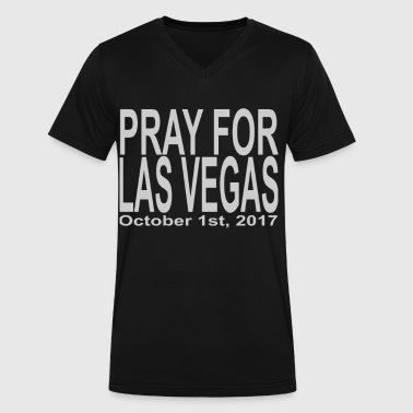 Pray for las vegas - Men's V-Neck T-Shirt by Canvas