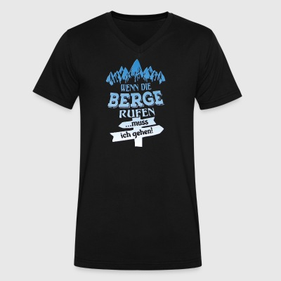 Berge Rufen - Men's V-Neck T-Shirt by Canvas