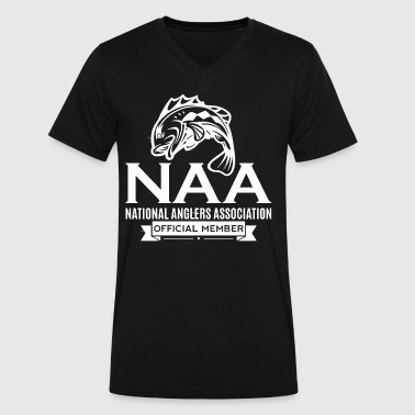 Official National Anglers Association Member - Men's V-Neck T-Shirt by Canvas