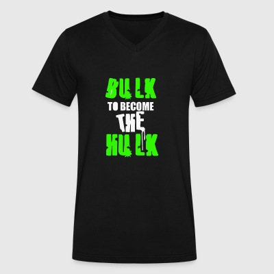 Bulk To Become The Hulk - Men's V-Neck T-Shirt by Canvas