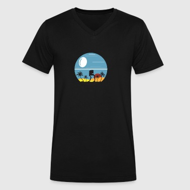 AT-ST on Scarif - Men's V-Neck T-Shirt by Canvas