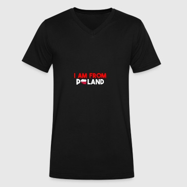 I am from POLAND - Men's V-Neck T-Shirt by Canvas