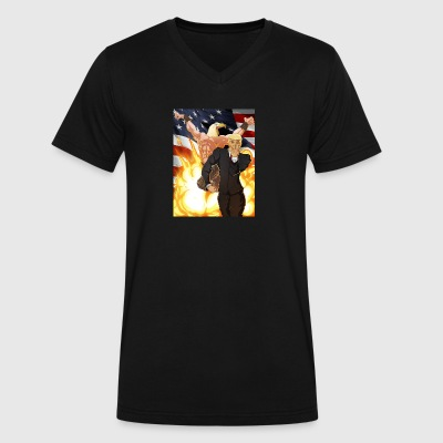 Trumps stand - Men's V-Neck T-Shirt by Canvas