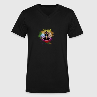 SPIN YOUR CHAKRAS - Men's V-Neck T-Shirt by Canvas