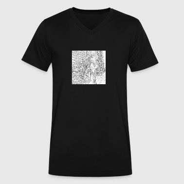 Smokes Street Art Bushwick, Brooklyn - Men's V-Neck T-Shirt by Canvas