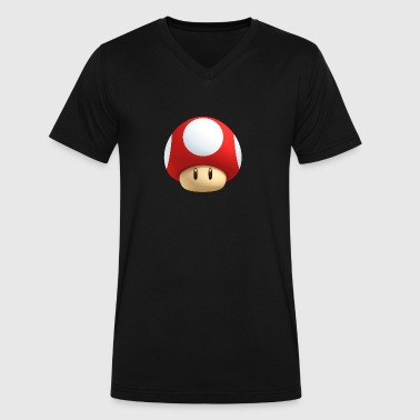 super mario brothers mushroom - Men's V-Neck T-Shirt by Canvas