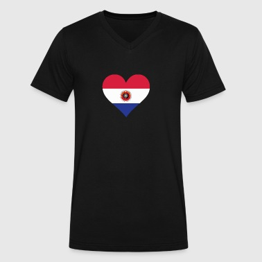 A Heart For Paraguay - Men's V-Neck T-Shirt by Canvas