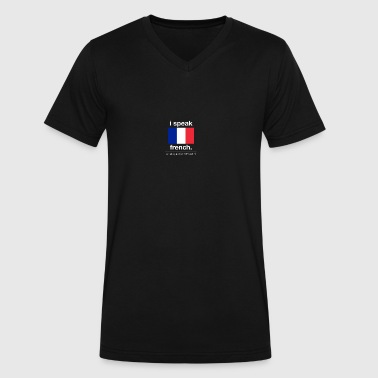 SUPERPOWER_-_french - Men's V-Neck T-Shirt by Canvas