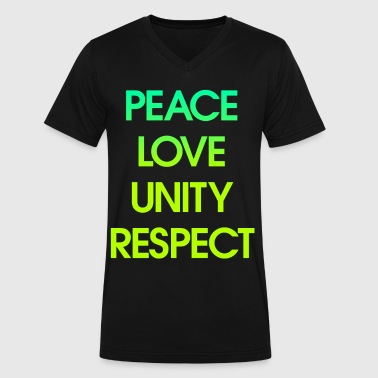 Peace Love Unity Respect - Men's V-Neck T-Shirt by Canvas