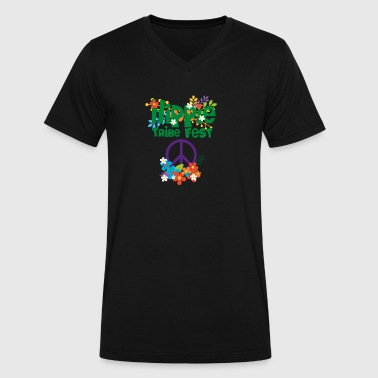 Hippie Tribe Fest Gear - Men's V-Neck T-Shirt by Canvas