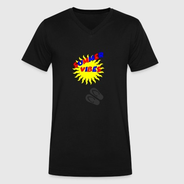 summer vibes 3 - Men's V-Neck T-Shirt by Canvas
