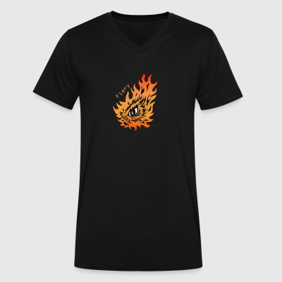 Fiery eye - Men's V-Neck T-Shirt by Canvas