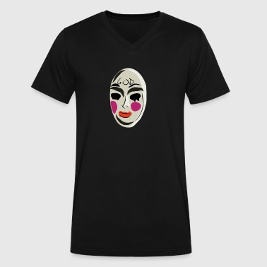 The Purge Mask - Men's V-Neck T-Shirt by Canvas