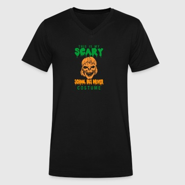 Halloween This My Scary School Bus Driver Costume - Men's V-Neck T-Shirt by Canvas