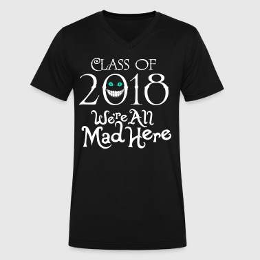 Class 2018. We're All Mad Here. - Men's V-Neck T-Shirt by Canvas
