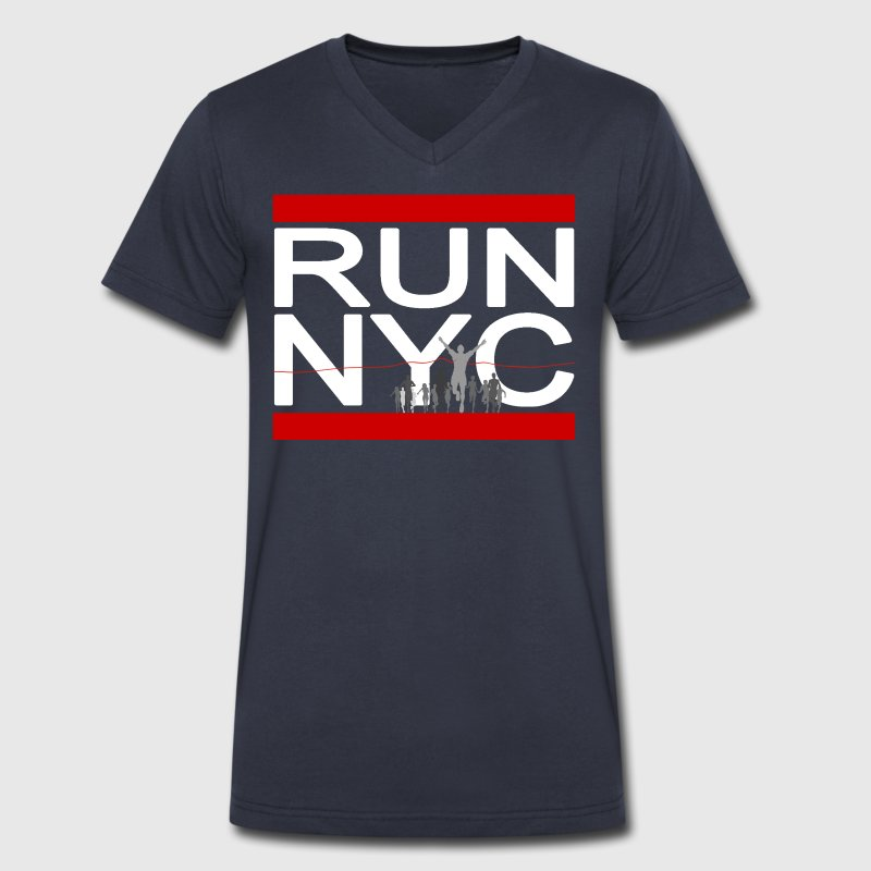 Run NYC New York Running - Men's V-Neck T-Shirt by Canvas