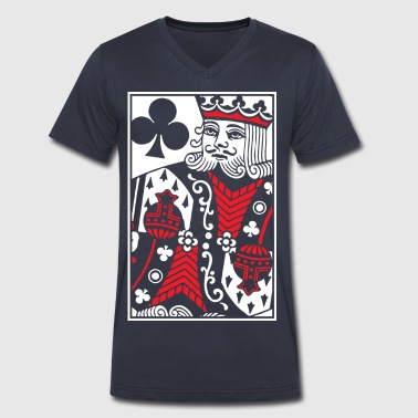 Kings of Clubs - King Card - Men's V-Neck T-Shirt by Canvas