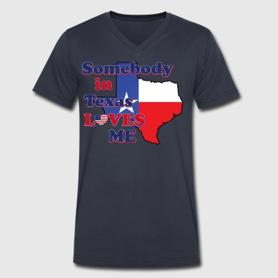 Somebody in Texas loves me - Men's V-Neck T-Shirt by Canvas