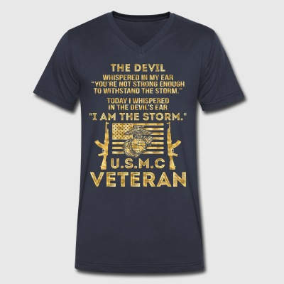 Veteran I am the storm - Men's V-Neck T-Shirt by Canvas