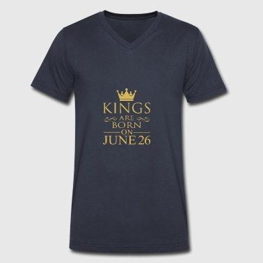 Kings are born on June 26 - Men's V-Neck T-Shirt by Canvas