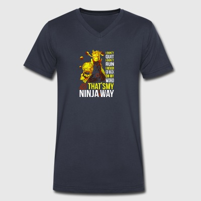 naruto - my ninja way t shirt - Men's V-Neck T-Shirt by Canvas